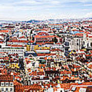 Lisbon Panoramic Skyline Poster