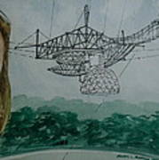 Amber Listening For Aliens At Arecibo Poster