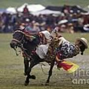 Litang Horse Festival - Kham Tibet Poster by Craig Lovell