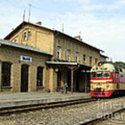 Lithuania. Silute Train Station. 2008 Poster