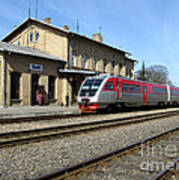 Lithuania. Silute Train Station. 2009 Poster