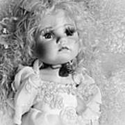 Little Angel In Black And White Poster