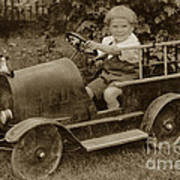 Little Boy In Toy Fire Engine Circa 1920 Poster