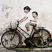Little Children on a Bicycle Poster