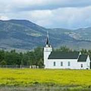 Little Church On Montana Prairie Poster