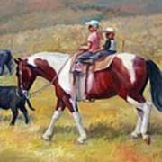 Little Cowboys Of Ruby Valley Western Art Cowboy Painting Poster