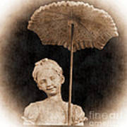 Little Girl With Umbrella Poster