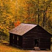 Little Greenbrier Schoolhouse In Autumn  Poster