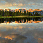 Little Molas Lake At Sunset Poster