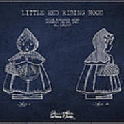 Little Red Riding Hood Patent Drawing From 1943 Poster by Aged Pixel