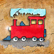 Little Red Train Poster