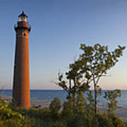 Little Sable Lighthouse By The Shore Poster