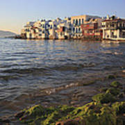 Little Venice At Sunset Mykonos Town Cyclades Greece  Poster
