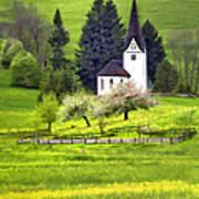 Little White German Church Poster