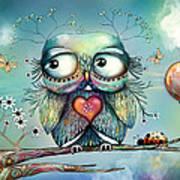 Little Wood Owl Poster