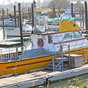 Little Yellow Boat Poster by Lisa Billingsley