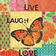 Live Laugh Love Patch Poster