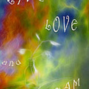 Live Love And Dream Poster by Veikko Suikkanen