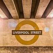 Liverpool Street Underground Poster
