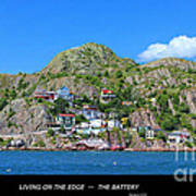 Living On The Edge -- The Battery - St. John's Nl Poster