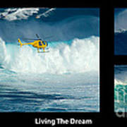 Living The Dream With Caption Poster