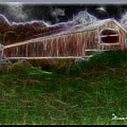 Livingston Manor Covered Bridge - Featured In Comfortable Art Group Poster