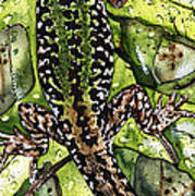 Lizard In Green Nature - Elena Yakubovich Poster