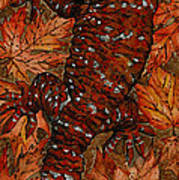Lizard In Red Nature - Elena Yakubovich Poster by Elena Yakubovich