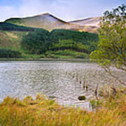 Llyn Cwellyn In Snowdonia National Park Towards M Poster