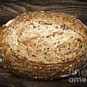 Loaf Of Multigrain Artisan Bread Poster by Elena Elisseeva
