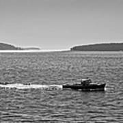 Lobster Boat And Islands Off Acadia National Park In Maine Poster