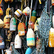 Lobster Buoys Fishermans Shed Poster