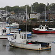 Lobster Fleet Rockport Harbor Poster