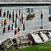 Lobster Pots And Buoys Poster