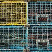 Lobster Traps Poster by Stuart Litoff
