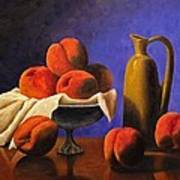 Local Peaches Oil Painting Poster