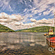 Loch Fyne Digital Painting Poster