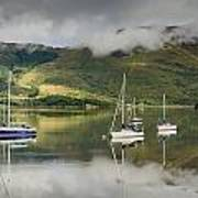 Loch Leven Sailboats Poster