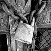 Locked - Black And White Poster