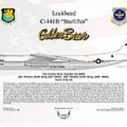 Lockheed C-141b Starlifter Golden Bear Poster