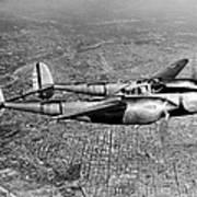 Lockheed P-38 Lightning Fighter Poster