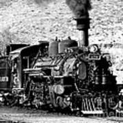 Locomotive Black And White Train Steam Engine Poster