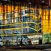 Locomotive On A Wall Poster