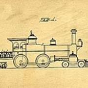 Locomotive Support Patent Drawing From 1915 1 Poster
