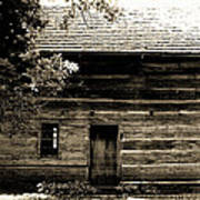 Log Cabin Home Poster by Brenda Donko