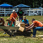 Log Cutting Competition Poster