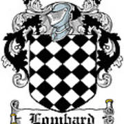 Lombard Coat Of Arms Irish Poster