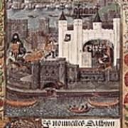 London And The Thames 15th C.. Gothic Poster by Everett