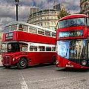 London Double Decker Buses Poster