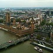 London England From The London Eye Poster